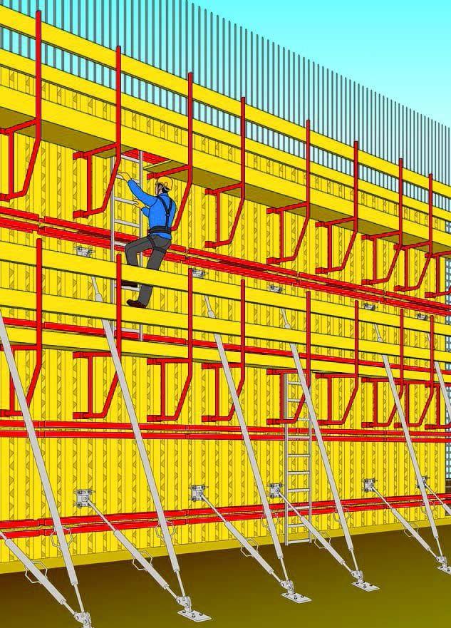 Immagine a colori che mostra una cassaforma verticale prefabbricata componibile