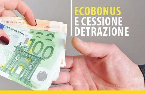 Ecobonus e cessione della detrazione