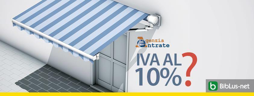 IVA al 10 per cento