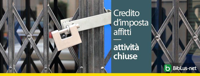 credito-d-imposta-affitti-attivita-chiuse