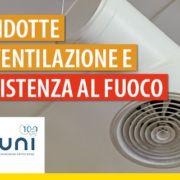 condotte di ventilazione e lampada accesa