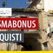 case dopo un sisma con vigile del fuoco