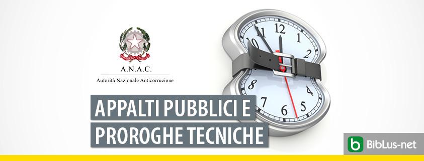 ANAC ed appalti: attenzione la proroga tecnica reiterata viola i principi comunitari!