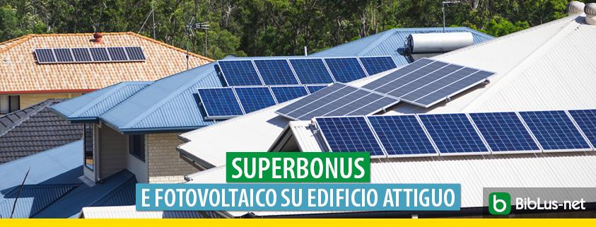 Superbonus, ok al fotovoltaico sulla falda di un altro edificio