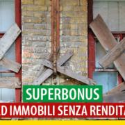 Superbonus ed immobili senza rendita (cat. F)