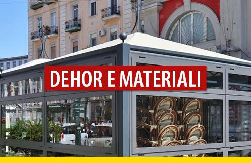 Dehor: ai fini del decoro urbano c'è differenza se si usa vetro o pvc?