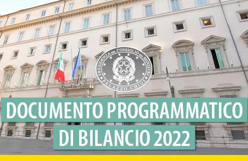 Il CdM approva il documento programmatico di bilancio per il 2022
