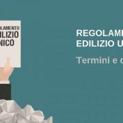 Definizioni regolamento edilizio unico