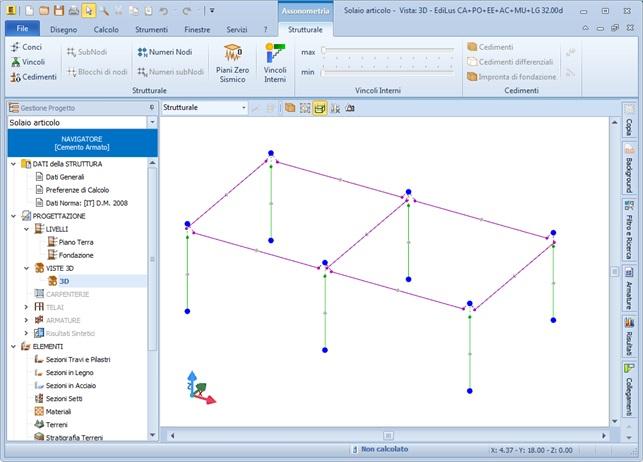 EdiLus-CA vista modello strutturale