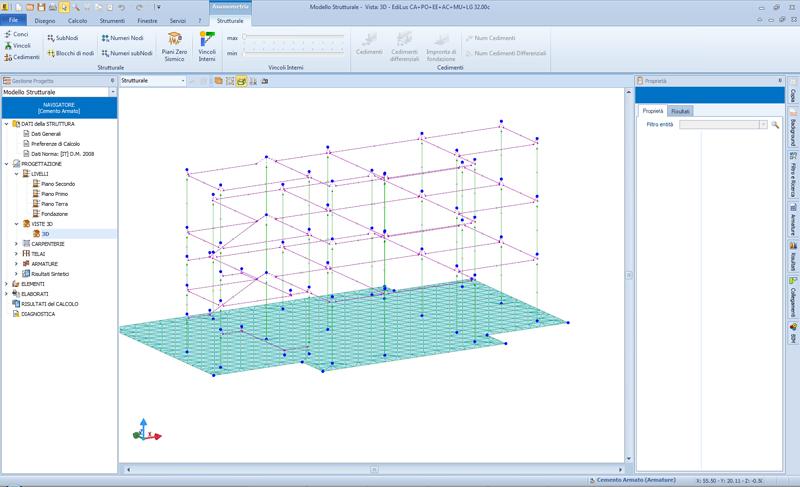 Figura 7 – EdiLus beam e shall (Modello strutturale)