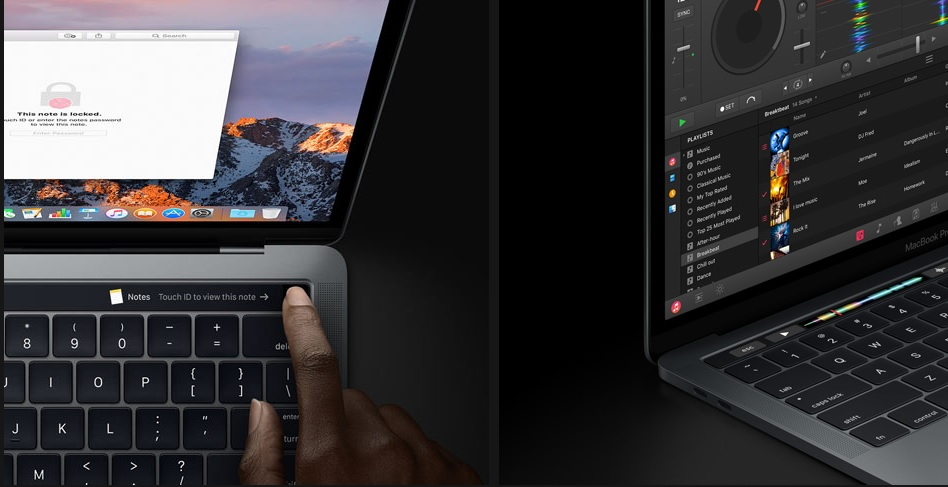 MacBook Pro: Touch Bar e Touch ID