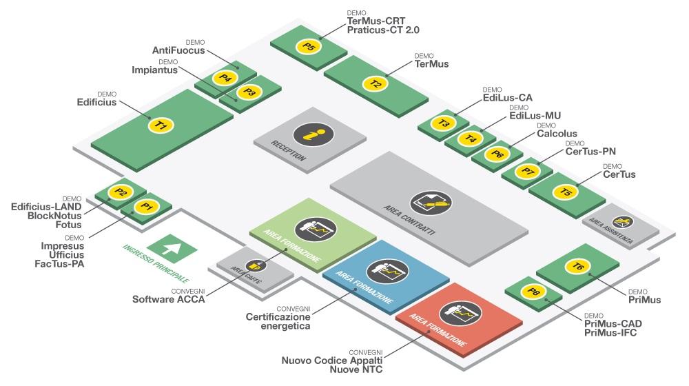 Mappa padiglione ACCA n. 33 Saie 2016