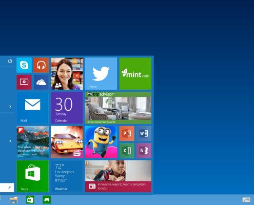 Start menu in Windows 10